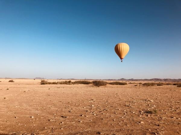 Product Professioneel uitgevoerde ballonvaarten boven de woestijn van Marrakech – Een  onvergetelijke ballonvaart bij zonsopgang boven de savanne woestijn, incl. ontbijt en Transport heen/terug vanuit jouw accommodatie!